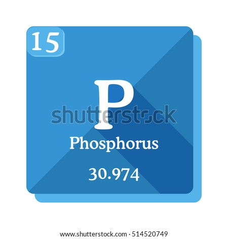 Phosphorus p element periodic table flat stock photo photo vector phosphorus p element of the periodic table flat icon with long shadow urtaz Images