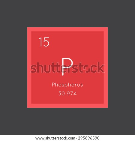 Phosphorus simple style tile icon. Chemical element of periodic table. Vector illustration EPS8 - stock vector