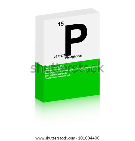 Phosphorus symbol - stock vector