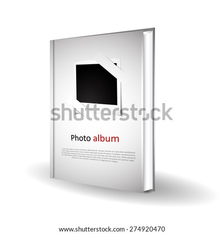 photo album with blank photos vector illustration isolated  - stock vector