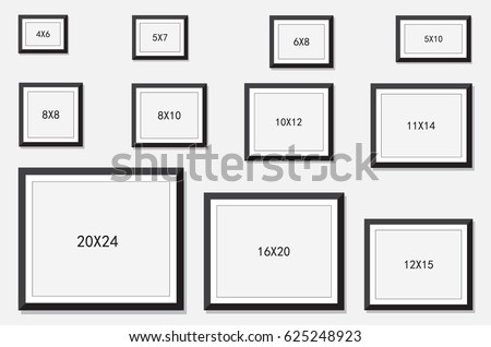 photo picture frame size stock vector royalty free 625248923 shutterstock. Black Bedroom Furniture Sets. Home Design Ideas
