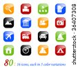 Photo and travel icons - color series - stock vector