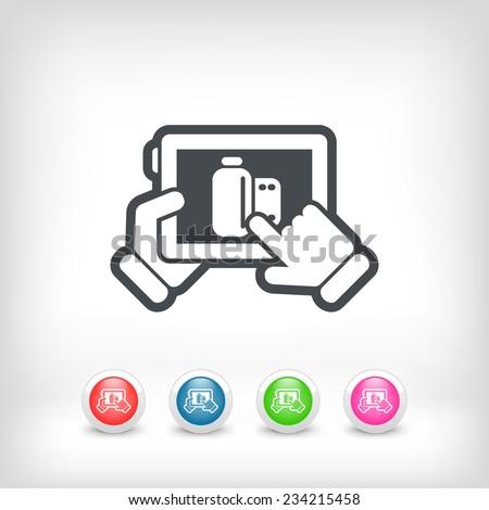 Photo application icon - stock vector