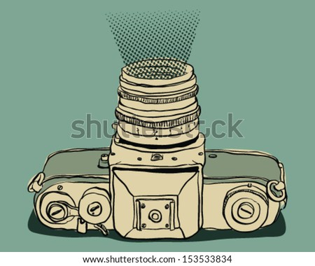 Photo camera - stock vector