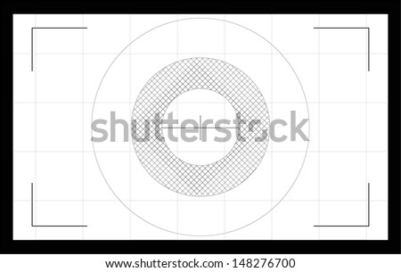 Photo camera focusing screen. Vector illustration - stock vector