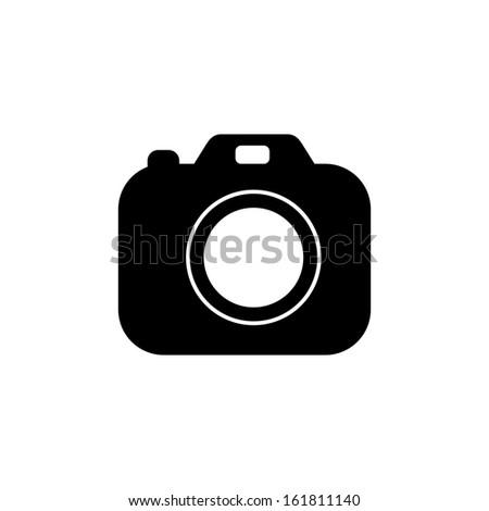 Photo camera icon vector - stock vector