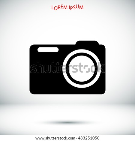 photo camera icon, vector best flat icon, EPS