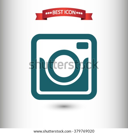 Photo camera icon vector, Photo camera icon eps10, Photo camera icon picture, Photo camera icon flat, Photo camera icon, Photo camera web icon, Photo camera icon art, Photo camera icon drawing - stock vector
