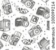 photo camera pattern - stock photo