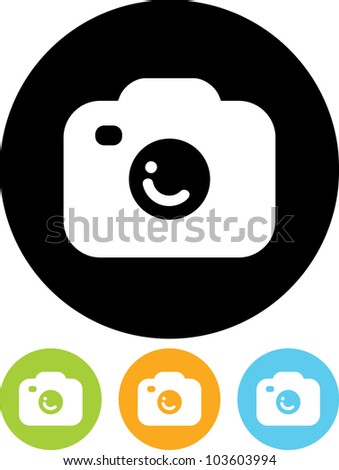 Photo camera - Vector icon isolated - stock vector