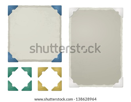 Photo corners, frames - stock vector