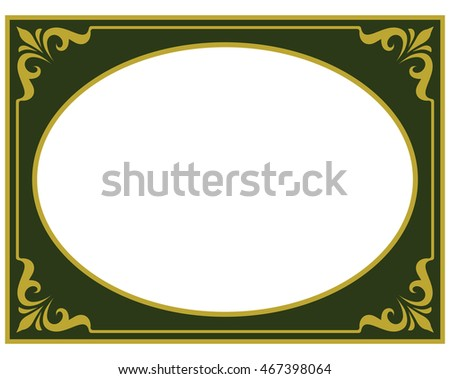 Photo frame border beautiful vector vintage isolated