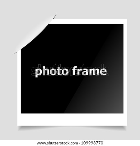 Photo Frame. Clean vector background. - stock vector