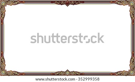 photo frame floral for picture, vector , thai frame style - stock vector