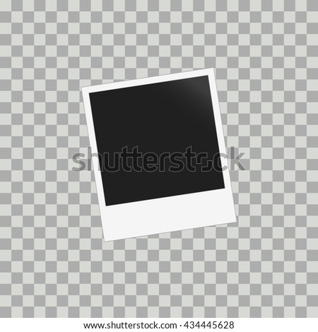 Photo frame for photos with shadow. Vector illustration for your design and business. - stock vector