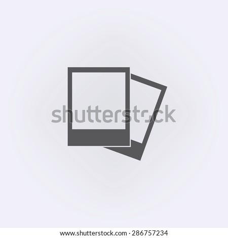 Photo frame icon - stock vector