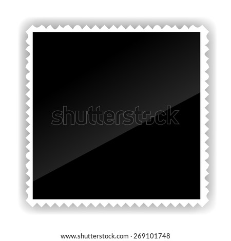 Photo Frame Isolated on White Background. Black and white. - stock vector