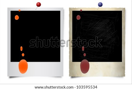 Photo frame. Old and new. - stock vector