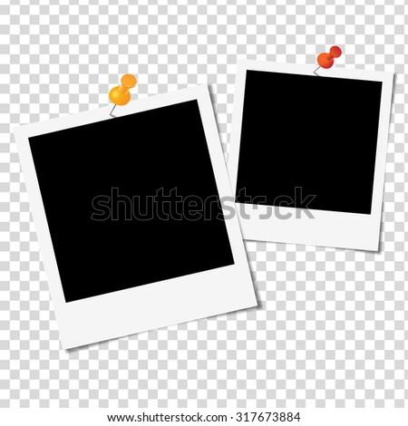 Photo Frame on white background - Vector illustration - stock vector