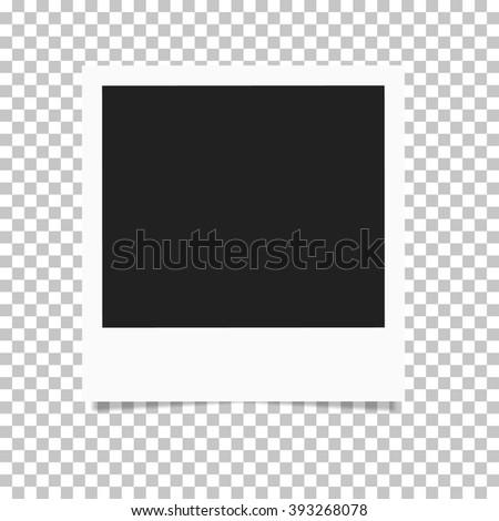 Photo frame retro Illustration. Photo frame isolated on a background. Photo frame mock up. Photo frame  border. Photo frame on plaid background. Photo frame retro. Photo frame - stock vector - stock vector