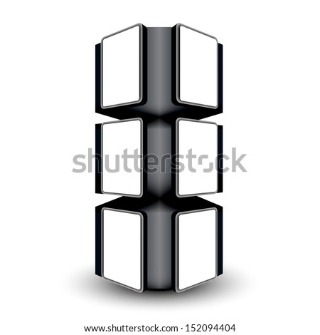 Photo frame stand display image in white space 3d illustration  - stock vector