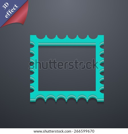 Photo frame template  icon symbol. 3D style. Trendy, modern design with space for your text Vector illustration - stock vector