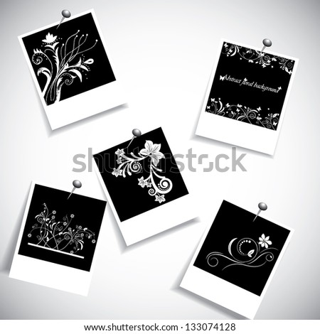 Photo frame with creative flower design