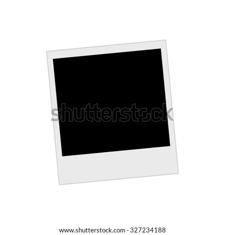 Photo Frame with shadow - stock vector
