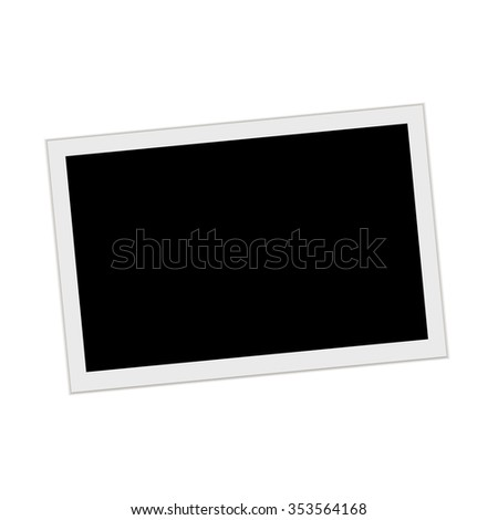Photo Frame with shadow on white background - stock vector