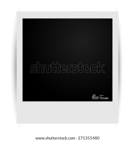 Photo frame with shadows vector illustration