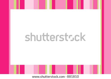 Photo frame with stripes - stock vector