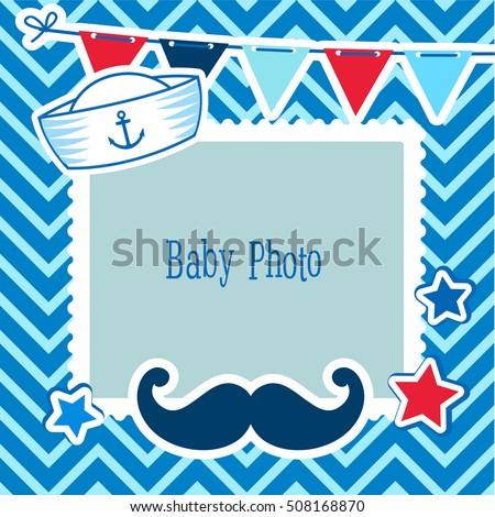 Photo Frames Kids Decorative Template Baby Stock Vector 508168870 ...