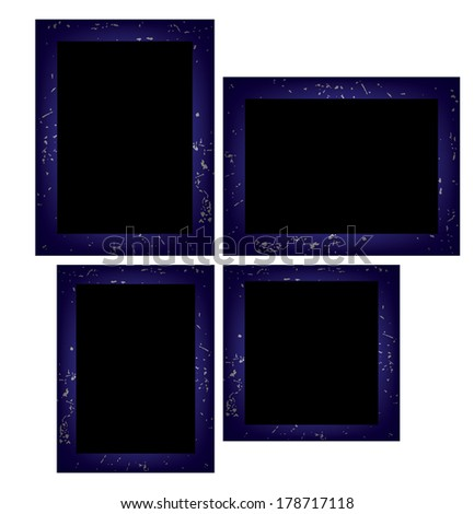 Photo frames. Isolated on white background. Vector EPS10. - stock vector