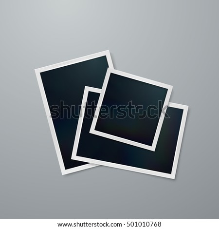 photo frames mock up vector illustration of realistic iridescent photo frame on textured paper