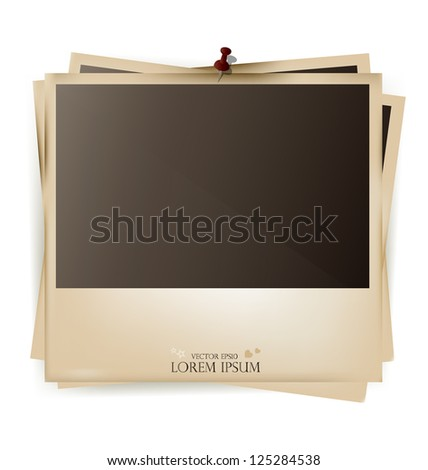 Photo frames- vector illustration. - stock vector