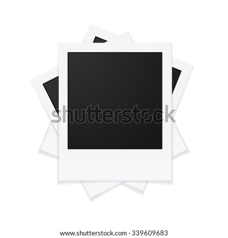 Photo Frames with Empty Space for Your Photograph. Vector illustration