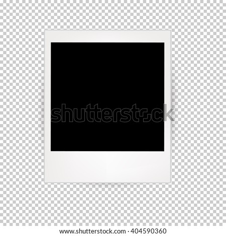 Photo Frames With Transparent Background - stock vector