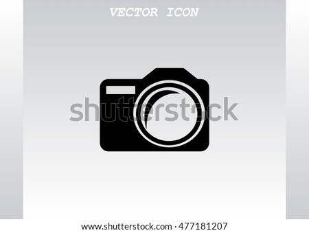 photo icon, vector illustration