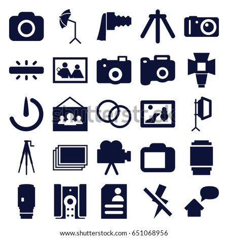 Photo icons set set 25 photo stock vector royalty free 651068956 photo icons set set of 25 photo filled icons such as photos resume thecheapjerseys Images