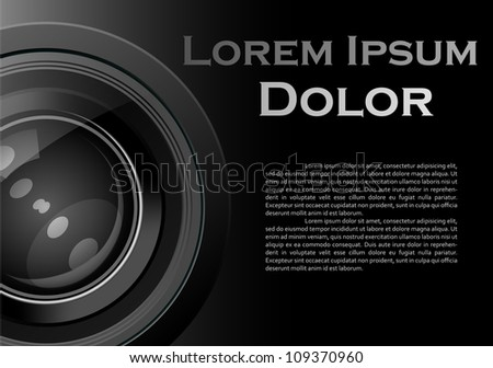 Photo lens Cover| Editable Illustration - stock vector