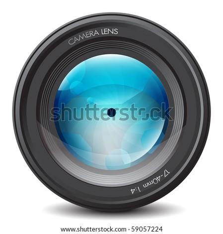photo lens eps10 - stock vector