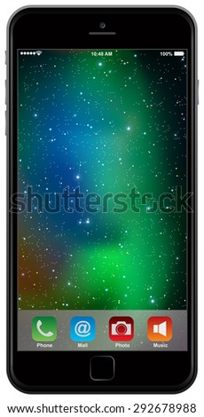 photo realistic mobile phone isolated on white background - stock vector