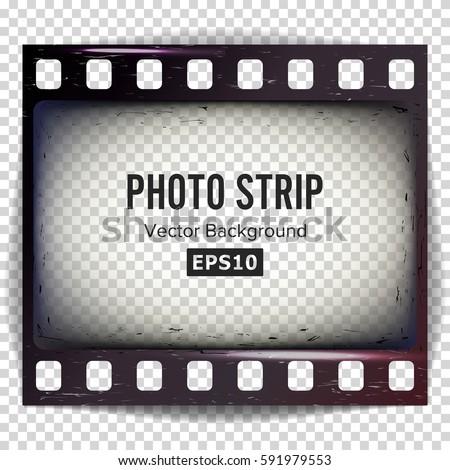 Photo Strip Vector Realistic Empty Frame Stock Vector 591979553 ...
