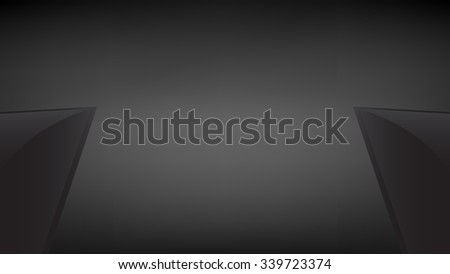 Photo studio lights with black background vector template. - stock vector