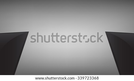 Photo studio lights with grey background vector template. - stock vector