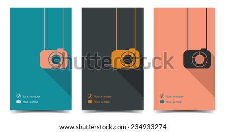 Photographer business card flat style stock vector 234933274 photographer business card in a flat style colourmoves
