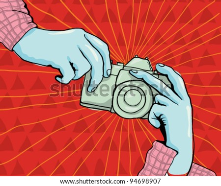 Photographer camera - stock vector