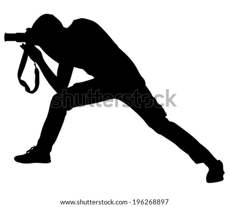 photographer taking a picture, vector