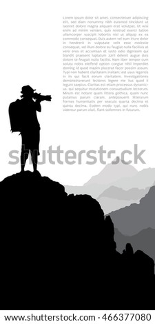 Photographer working in the mountains