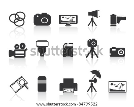 photography element icon - stock vector